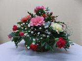 Carnation Basket Arrangement
